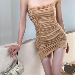 複古裹胸緊身連衣裙