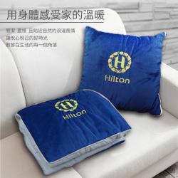 VIP貴賓系列義大利短絨抱枕被深藍