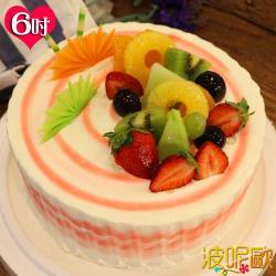 【波呢歐】酸甜草莓雙餡鮮奶蛋糕(6吋)