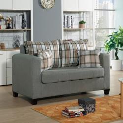 H&D 貝拉2人灰色沙發