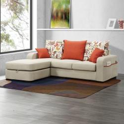 H&D 黛絲L型布沙發全組