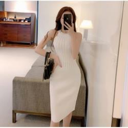 心機針織連衣裙