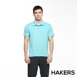【HAKERS 哈克士】男 彈性吸濕排汗抗UV口袋POLO衫(二色)
