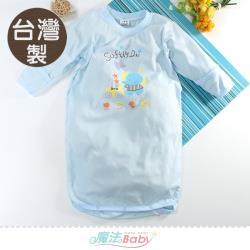 魔法Baby 嬰兒長袍 台灣製春夏薄款護手長睡袍~k51571