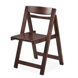hoi!好好生活 實木摺疊餐椅-胡桃色兩入組