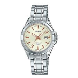 【CASIO 卡西歐】日系-夜黑氣質簡約時尚女錶(LTP-1308D-9A)