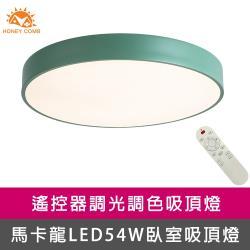 【Honey Comb】馬卡龍LED54W遙控臥室吸頂燈綠(V2618C54)