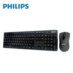 PHILIPS飛利浦 2.4G無線鍵盤滑鼠組/黑 SPT6501