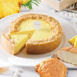 【艾波索】鳳梨無限乳酪(6吋x1入)+牛奶千層冰心泡芙3入|蘋果日報蛋糕評比得獎|乳酪蛋糕、母親節蛋糕、情人節、生日蛋糕推薦