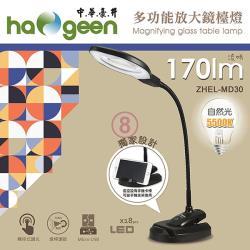 中華豪井 多功能放大鏡檯燈(插電式) ZHEL-MD30