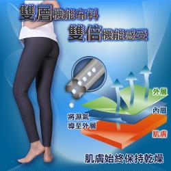 5B2F【五餅二魚】雙層吸濕排汗褲