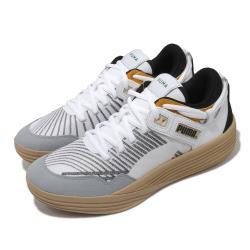 Puma 籃球鞋 Clyde All-Pro Kuzma 男鞋 專業運動 低筒 高回彈 緩震 白 黑 19483501 [ACS 跨運動]