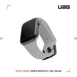 UAG Apple Watch 38/40mm 潮流矽膠錶帶-灰