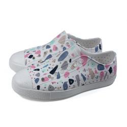 native 休閒鞋 洞洞鞋 白色 彩色圖形 男女款 11100101-8965 no038
