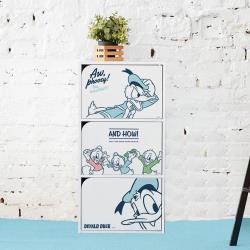 網狐家居  迪士尼唐老鴨系列  加大加寬三層三門櫃(DIY組裝)
