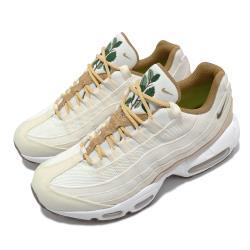 Nike 休閒鞋 Air Max 95 SE 運動 女鞋 經典款 氣墊 舒適 避震 刺繡圖案 米白 白 CZ2275100 [ACS 跨運動]