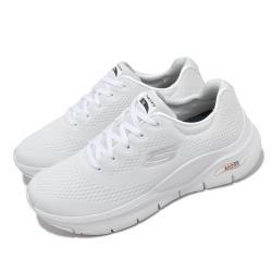 Skechers 慢跑鞋 Arch Fit-Big Appeal 女鞋 專利鞋墊 郊遊 健走 回彈 避震 舒壓 白 藍 149057WNVR