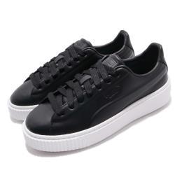 Puma 休閒鞋 Platform Seamless 女鞋 厚底 皮革鞋面 穿搭推薦 基本款 黑 白 36916203 36916203