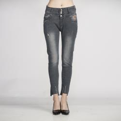 【A1 Darin】(三件組)日本高腰超彈逆天長腿丹寧褲(送洗衣精補充包300g)