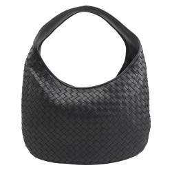 BOTTEGA VENETA 624038 手工編織小羊皮肩背包.黑