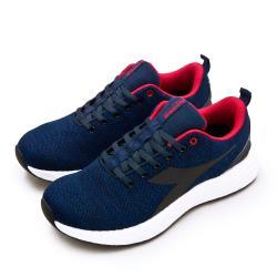 【DIADORA】男 迪亞多那 專業輕量飛織避震慢跑鞋 ETPU彈力球系列(藍紅 71120)