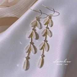 《Caroline》韓國熱賣柳葉流蘇超仙造型時尚 高雅大方設計 耳環72873