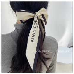 梨花HaNA  韓國法式PARIS慵懶絲帶.絲巾飄帶可綁包包頭髮
