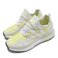 adidas 休閒鞋 ZX 2K BOOST 運動 女鞋 愛迪達 輕量 透氣 舒適 避震 穿搭 黃 白 GX2711 [ACS 跨運動]