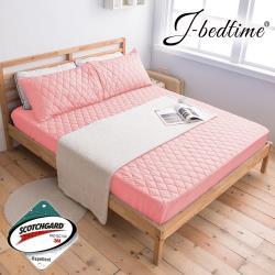 J-bedtime 台灣製防潑水單人床包式保潔墊-採用3M防潑水技術(多款任選)