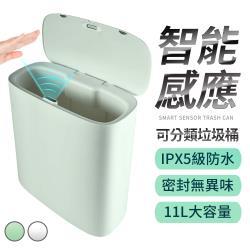 【FJ】IPX5可分類智能感應垃圾桶ZPL189(防菌必備)