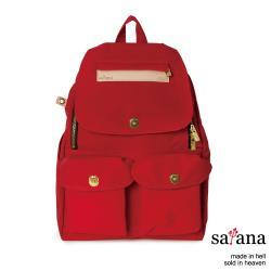 【satana】Soldier 多功能拉鍊後背包-紅色