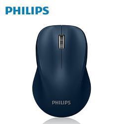 PHILIPS 飛利浦 人體工學 2.4G無線滑鼠/藍 SPK7384U(二入組)