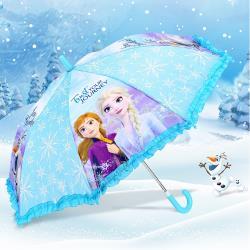 迪士尼冰雪奇緣兒童雨傘童傘自動傘長傘直傘 850749/812808[卡通小物]