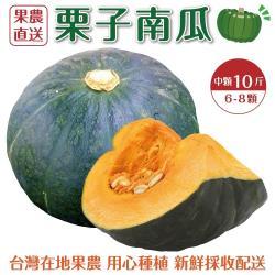 果農直配-日本品種栗子南瓜中顆(6-8顆/約10斤±10%含箱重)