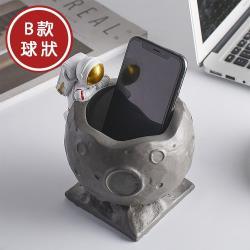 北歐時光  小小太空人星球造型筆筒 收納罐 B款球狀