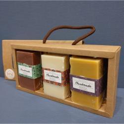 純天然手工皂禮盒-沐浴皂 (6入皂)【加贈起泡袋】