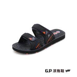 G.P(男)簡約織帶風格雙帶拖鞋 男鞋-橘色(另有白黑)
