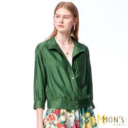 MONS 時尚簡約風貼口袋小外套