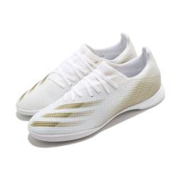 adidas 足球鞋 X Ghosted 3 IN 襪套式 男鞋 愛迪達 室內場地 橡膠平底 無釘 白 金 EG8204 [ACS 跨運動]