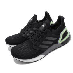 adidas 慢跑鞋 UltraBOOST 20 襪套式 男鞋 愛迪達 路跑 緩震 透氣 球鞋穿搭 黑 灰 綠 EG0707 [ACS 跨運動]