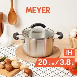 【MEYER美亞】百年鋼不鏽鋼導磁雙耳湯鍋20CM/3.8L(含蓋)