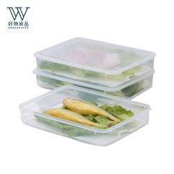 好物良品-食物保鮮收納瀝水盒 4入組 (31.5×23.6×6cm)