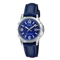 【CASIO 卡西歐】送禮首選-時尚氣質女錶_皮革錶帶 日期顯示(LTP-V004L-2B)
