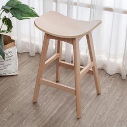 Boden-奧奇曲木造型實木吧台椅/吧檯椅/高腳椅(低)