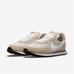 Nike 休閒鞋 Waffle Trainer 2 運動 女鞋 基本款 復古 簡約 麂皮 球鞋 穿搭 淺卡其 白 DM9091012
