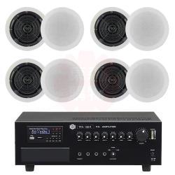 商業空間 SHOW TPA-120R 擴大機+DANAVOX K-109-2 嵌入式喇叭 X8支