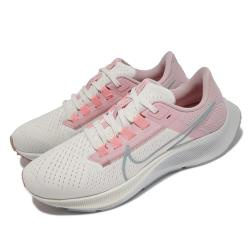 Nike 慢跑鞋 Zoom Pegasus 38 運動 女鞋 氣墊 舒適 避震 路跑 健身 球鞋 白 粉 CW7358103 [ACS 跨運動]