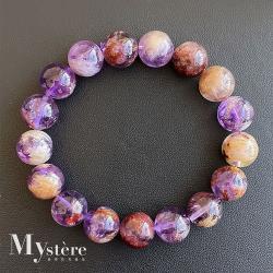 【my stere 我的時尚秘境】旺愛情事業-珍稀天然紫幽靈鈦晶手鍊