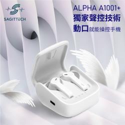 【i3嘻】Sagittech Alpha A1001+真無線藍牙耳機(骨傳導技術,語音聲控)