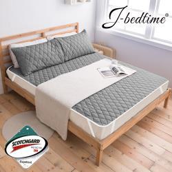 【買一送一】J-bedtime 防潑水平單式保潔墊-單/雙/加大
